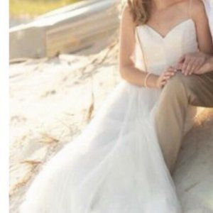 Watters New 2 Tinsley Wedding Dress Tulle Backless